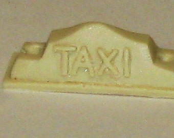 1:25 scale model resin Checker taxi cab sign