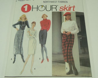 Simplicity Misses' Skirt Pattern 8559 Size 10, 12, 14 One Hour Skirt
