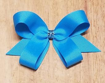 Small Island Blue Hair Bows