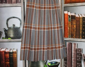 Highland Queen Pleated Virgin Wool Skirt