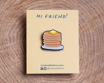 Pancake Stack Enamel Pin / Pancake Enamel Pin - Illustrated