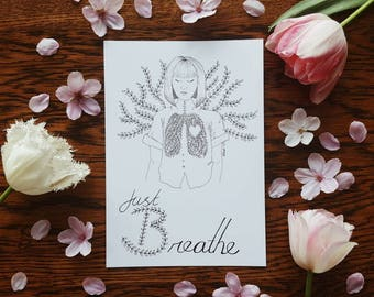 B is for Breathe Print A5 Selfabet Self Care