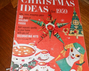 Better Homes and Gardens Christmas Ideas Magazine for 1959