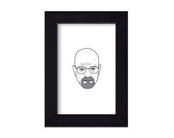 4 x 6 Framed Walter White / Breaking Bad Portrait