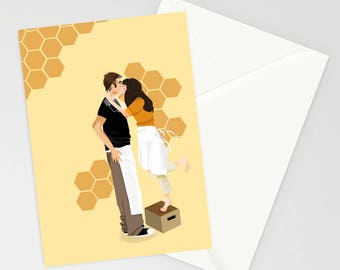 Pushing Daisies The Piemaker and Dead Girl A6 Greetings Card
