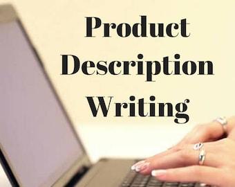 Description, Product Description, Description Writing, Writing Services, Product Description Help, Product Description Writing, New Listing