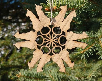 Laser Cut Kitty Christmas Ornament, Cat decoration