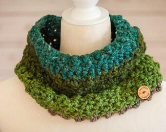 Green tea cowl/scarf