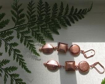 Matinicus Copper Dangle Earrings