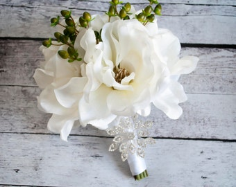 Magnolia Wedding Bouquet - Silk Wedding Bouquet