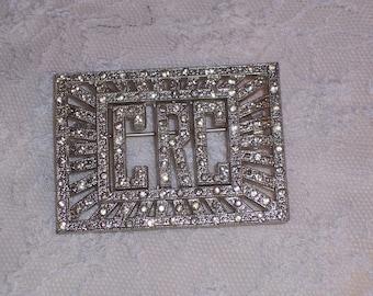 Vintage Coro Rhinestone Brooch or Pin