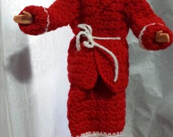 Barbie Crochet Coat and Skirt     RM-167
