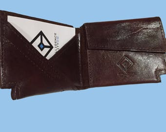 Genuine leather wallet for man