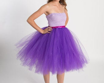 Junior Bridesmaid dress-tutu dress-tulle dress- Bridesmaid dress-Pageant dress-wedding-Princess dress -Lavender dress- Prom tutu dress