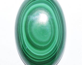 Top Quality Natural Malachite Gemstone,Smooth Polished Oval Shape Cabochon,AAA+++ High Quality,36X24X8.50MM Size,91 Carat Weight