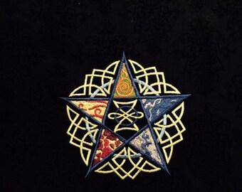 Element Pentacle  Altar Cloth