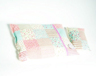 SALE Doll Bedding Set Patchwork  Reversable ECO friendly Waldorf Inspired