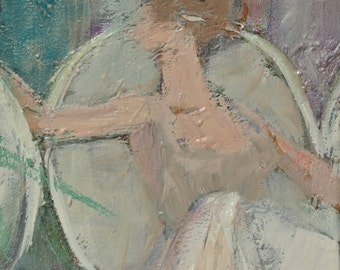 "Ann Cushing Gantz, oil on canvas, ""Dancer 2"""