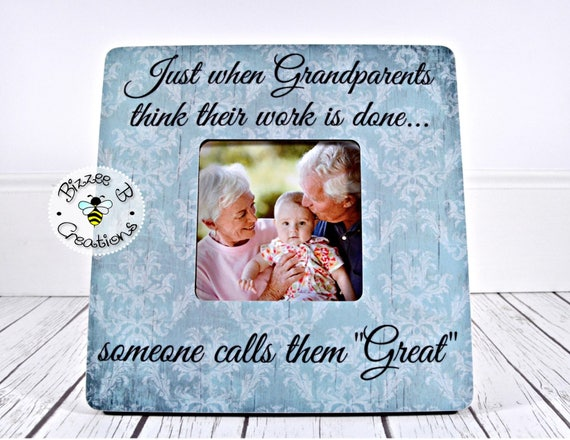 ON SALE Great Grandparents Gift Custom Picture Frame Gift