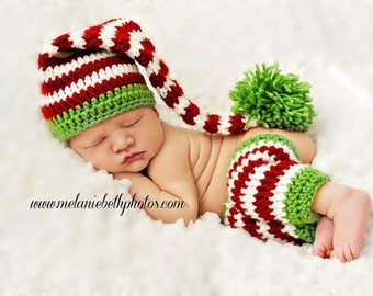 Newborn Baby Elf Hat, Holiday Hat, Stocking Hat, Made to Order