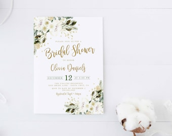 Fall bridal shower invitation autumn winter burgundy winter bridal shower invitations winter invitation holiday christmas baby shower invite filmwisefo Choice Image