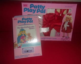 "24"" Patty Play Pal Party Dress & Extra Story Book Cassette..Ideal"