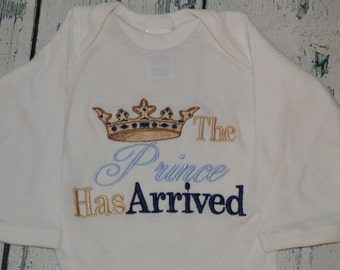 The Prince Has Arrived - Blues & Gold Bodysuit