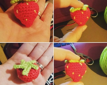 Supercute amigurumi strawberry