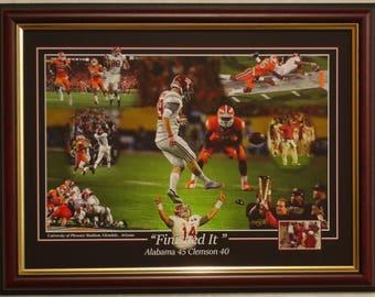 Alabama football 2015 National Championship LE framed print Saban Henry