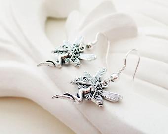 Silver Fairy Earrings | Angel Earrings