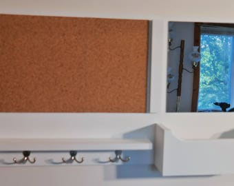 ON SALE Mail Organizer/ Message Center/ Cork Board /White Board/ Dry Erase Board /Mail Holder