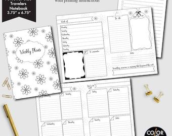 Personal Size TN Planner Weekly printable, week on two pages, weekly planner, weekly calendar, weekly agenda printable, CMP-222.9