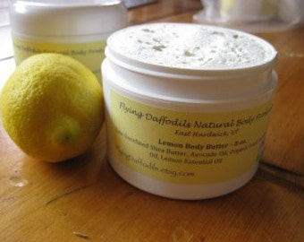 Lemon Body Butter, 4 or 8oz - All Natural