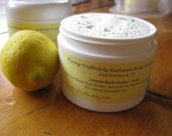 Beurre corporel citron, 4 ou 8 oz - naturel