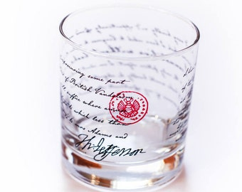 Thomas Jefferson - Cannot Live Without Books - Quote Rocks Glass