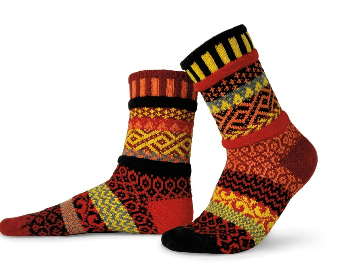 Solmate Socks - Fire Crew, Adult SMALL