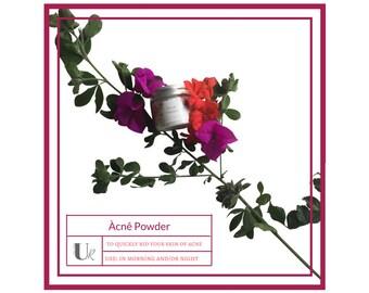 Àcnê Powder - 1 oz, Anti Inflammation, Dark Spot Treatment, Organic Face Powder, Natural Skin Care, Acne Treatment, Zinc Oxide, Pearl Powder