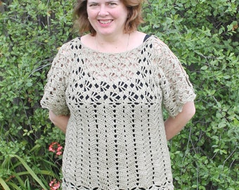 Lacy Jewel. Crochet pattern for a lacy summer top.
