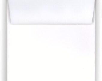 WHITE 6.5 inch square Envelopes - 50 pack