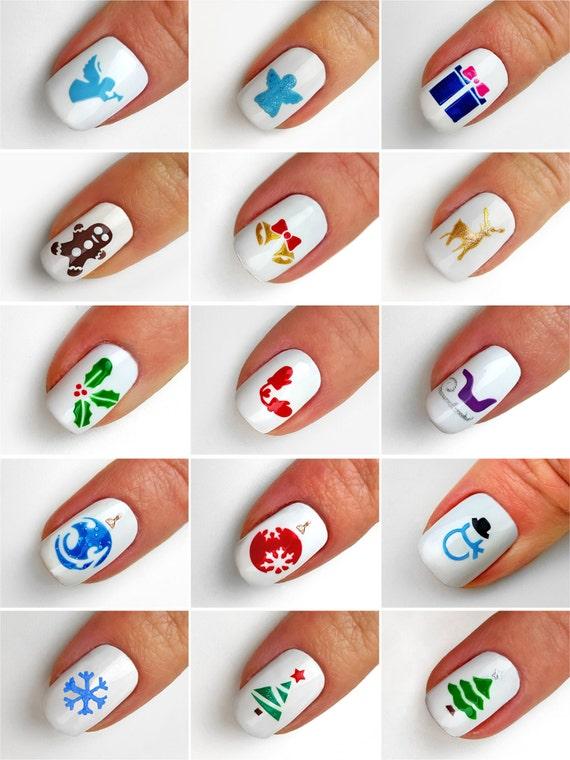 Christmas Symbols Nail Art Stencils incredible nail art
