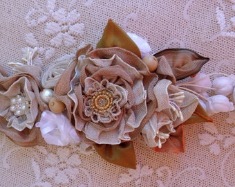 Linen ribbon decorative application shabby chick flowers composition decoration natural color  flowers ribbon for lampshade wedding rustic,