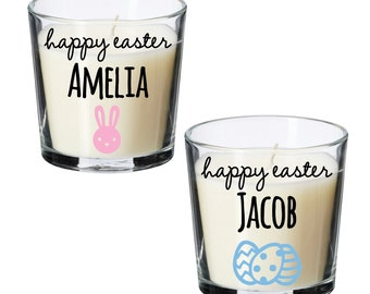 easter gifts, personalised easter candle, Personalised candle, easter home decor, easter decorations, personalised gifts