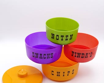 Retro 1970s Dutch Snack Bowls, Snack Set, Retro Party, Vintage Party