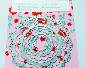 6 stencils die cutting embossing embossing and cutting and embossing dies flower metal frame