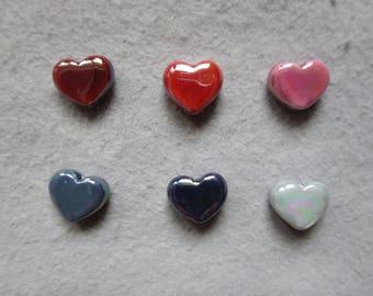 Heart (different colors) Greek ceramic bead