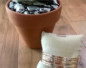 Custom handstamped bangles