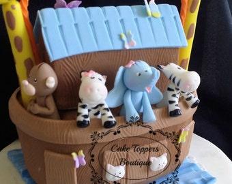 Noah's Ark Baby Shower, Noah's Ark Cake Topper, Noah's Ark Birthday, Noah's Ark Cake, Noah's Ark Nursery, Noah's Ark Animals, Noah's Ark
