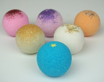 SALE! Lot of 6 (2.5 oz.) Bath Bombs - Moisturizing Bath Fizzy - Bath Seltzer - Handmade