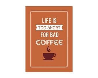 Coffee Typography Print
