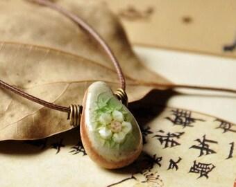 Ceramic Necklace, Ceramic Jewelry, Clay Necklace, Handmade Ceramic, Handmade Necklace, Handmade Jewelry